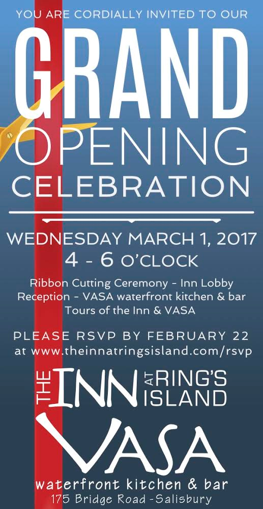 Grand Opening & Ribbon Cutting at Vasa Waterfront Kitchen & Bar AND The Inn at Rings Island @ Vasa Waterfront Kitchen & Bar