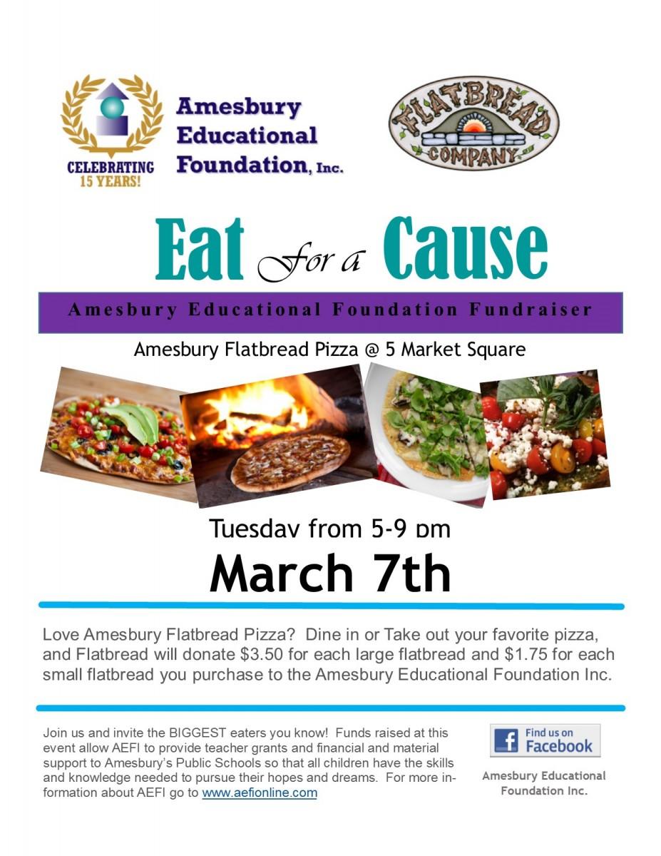 AEFI Fundraiser at Flatbread (Amesbury Educational Foundation Inc.) @ Flatbread Pizza Co.