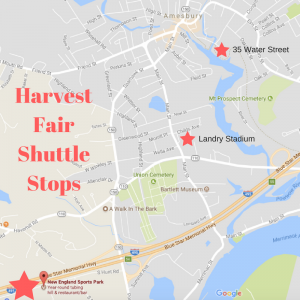 harvest fair shuttle stops